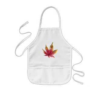 Autumn Maple Leaf Watercolor Painting Kids Apron