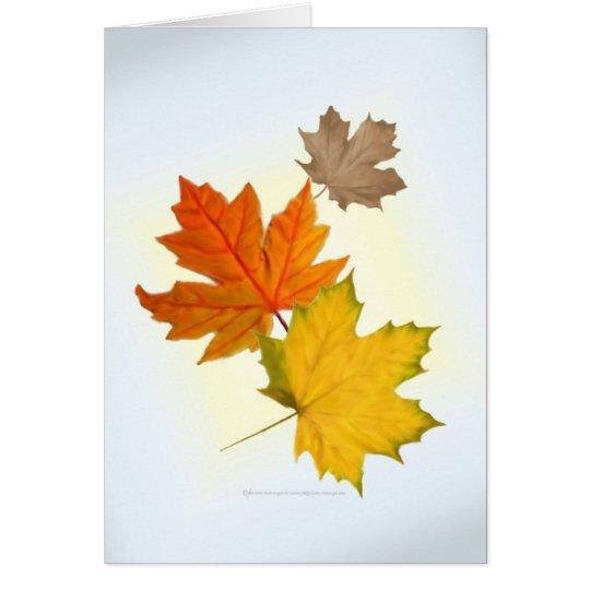 Autumn Maple Leaves Card