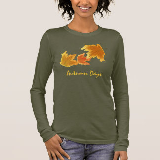 Autumn Maple Leaves Falling Long Sleeve T-Shirt
