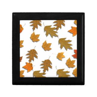 Autumn maple leaves gift box