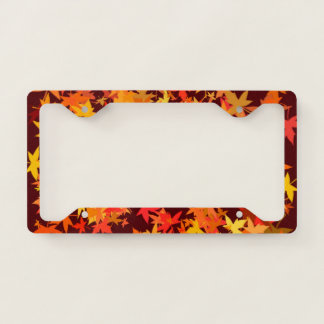 Autumn Maple Leaves License Plate Frame