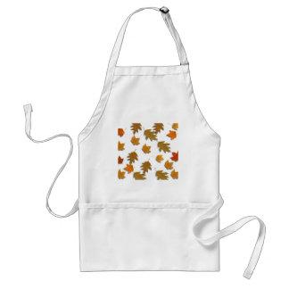 Autumn maple leaves standard apron