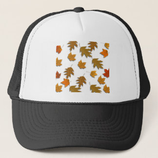 Autumn maple leaves trucker hat