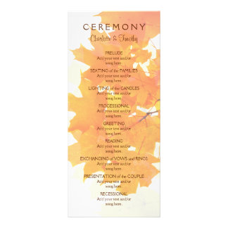 Autumn Maple Leaves Wedding Program