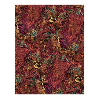 Autumn marble swirl 8.5 x 11 inch scrapbook paper