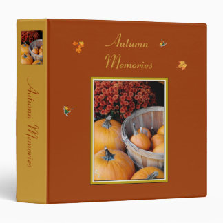'Autumn Memories' Binder/Album 3 Ring Binder