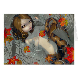 """Autumn Mermaid"" Greeting Card"