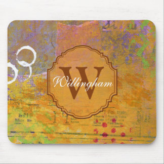 Autumn Monogram Mousepad