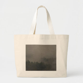 Autumn Moods Misty Forest Photo Art Nature Scene Large Tote Bag