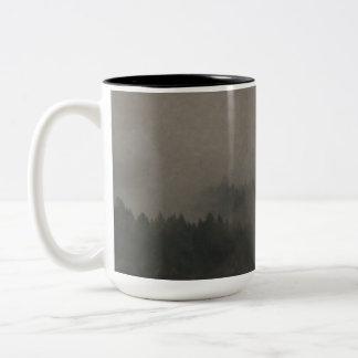 Autumn Moods Misty Forest Photo Art Nature Scene Two-Tone Coffee Mug