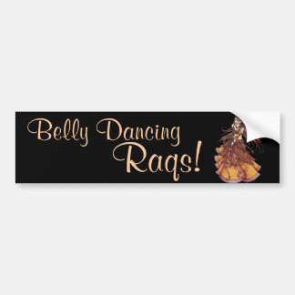 Autumn Moon Belly Dancer Bumper Sticker