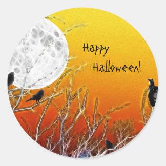 Autumn Moon Classic Round Sticker