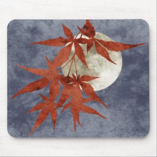 autumn moon collage case mouse pad