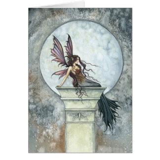 Autumn Moon Fairy Card by Molly Harrison