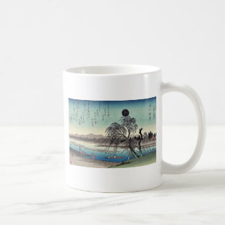 Autumn moon over Tama River by Ando, Hiroshige Coffee Mug