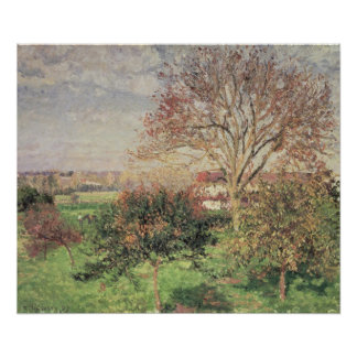 Autumn morning at Eragny, 1897 Poster