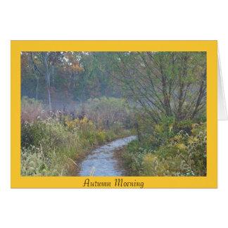 Autumn Morning Card