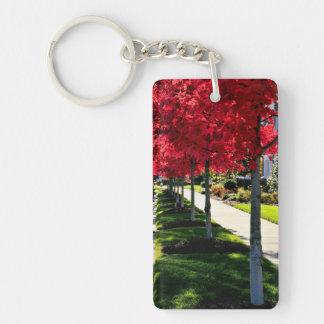 Autumn Morning Single-Sided Rectangular Acrylic Keychain