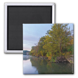 Autumn Morning Lake Springfield Magnet
