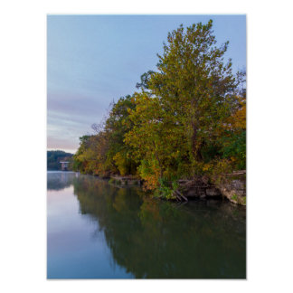 Autumn Morning Lake Springfield Poster