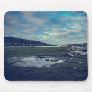 autumn morning mouse pad
