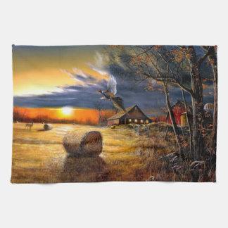 Autumn Morning On The Farm Kitchen Towel