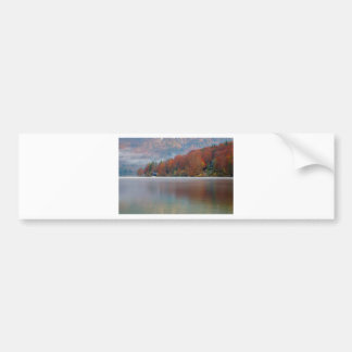 Autumn morning over Lake Bohinj Bumper Sticker