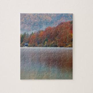 Autumn morning over Lake Bohinj Jigsaw Puzzle