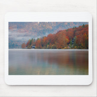 Autumn morning over Lake Bohinj Mouse Pad