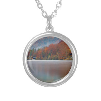 Autumn morning over Lake Bohinj Silver Plated Necklace