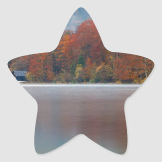 Autumn morning over Lake Bohinj Star Sticker