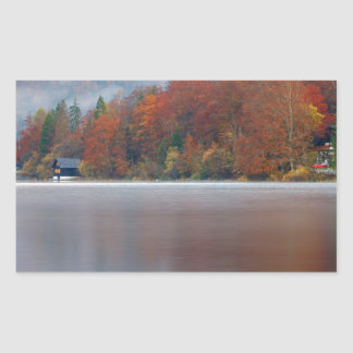 Autumn morning over Lake Bohinj Sticker