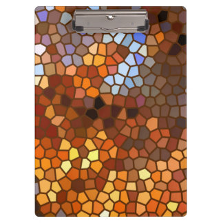 Autumn Mosaic Abstract Clipboards
