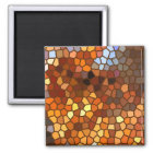 Autumn Mosaic Abstract Magnet