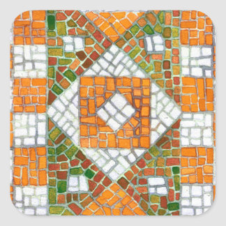 Autumn Mosaic Square Stickers