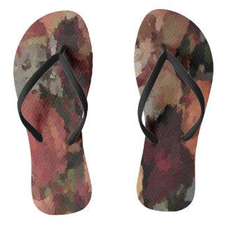 Autumn Mosaics Flip Flops