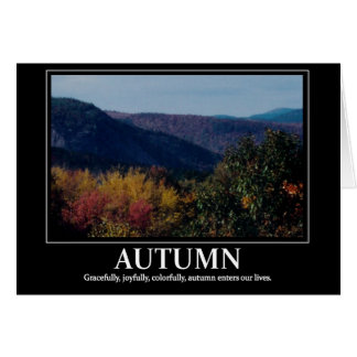Autumn Motivation/ Inspire card