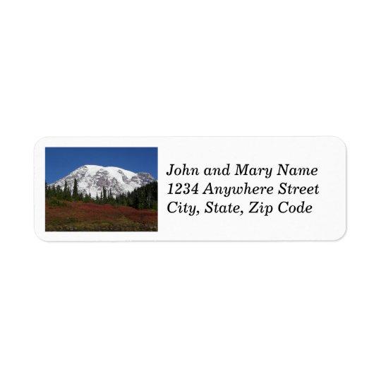 Autumn Mount Rainier Photo Return Address Labels
