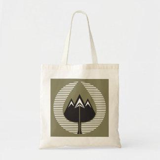autumn mountains budget tote bag