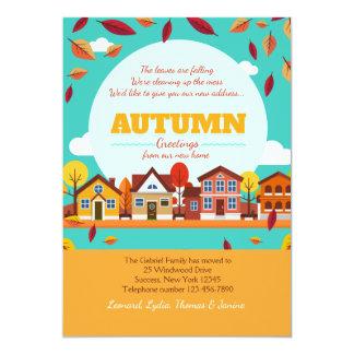 Autumn Neighborhood Moving Announcement