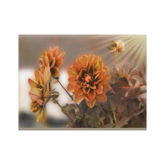 Autumn Neutral Dahlia Colour Canvas Print