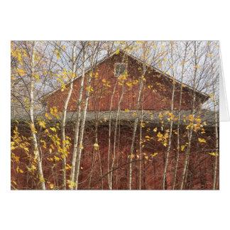 Autumn New England Barn Card