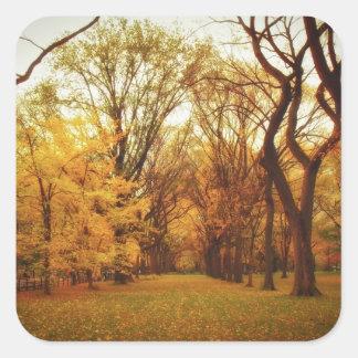 Autumn - New York City Square Sticker
