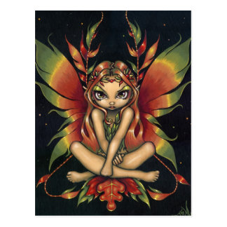 """Autumn Night Fairy"" Postcard"