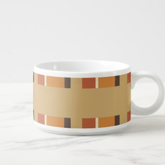 Autumn Nutmeg with Striped Colors Chili Bowl