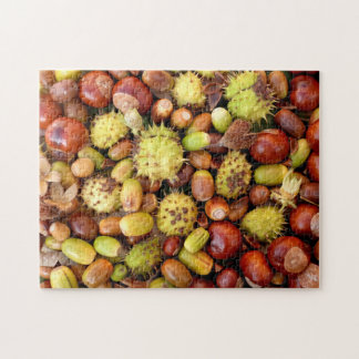 Autumn nuts and conkers jigsaw puzzle