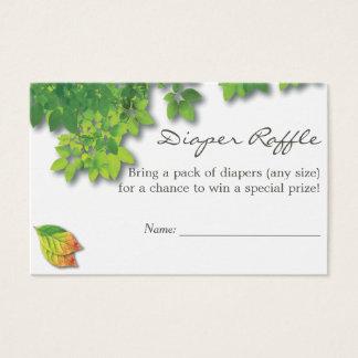 Autumn Oak Baby Shower Diaper Raffle Business Card