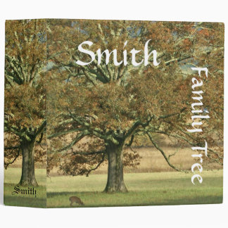 Autumn Oak Family History Binder
