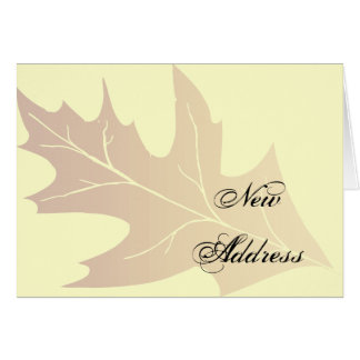 Autumn Oak Leaf Change of Address Card