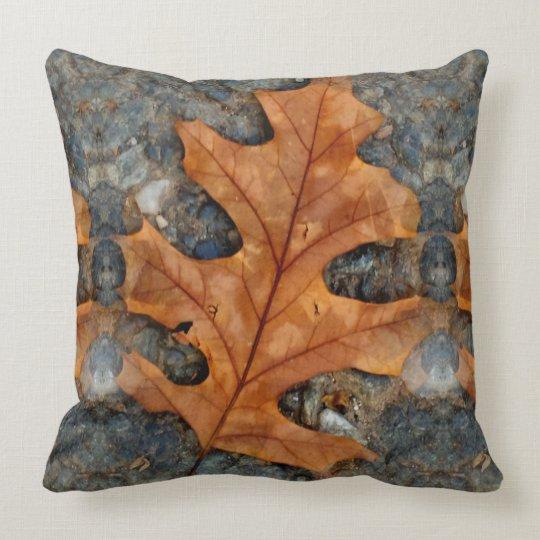Autumn Oak Leaf Throw Pillow